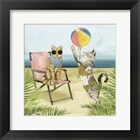 Framed Coastal Kitties I