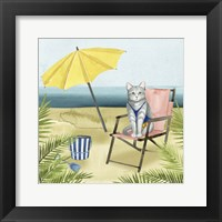 Framed Coastal Kitties II
