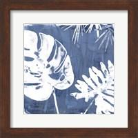 Framed Tropical Indigo Impressions I