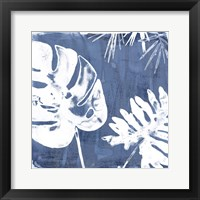 Framed Tropical Indigo Impressions I