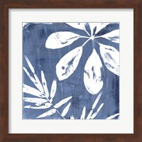 Framed Tropical Indigo Impressions II