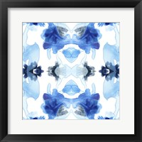 Framed Blue Kaleidoscope I