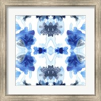 Framed Blue Kaleidoscope II