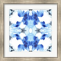 Framed Blue Kaleidoscope III