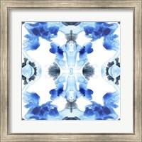 Framed Blue Kaleidoscope IV