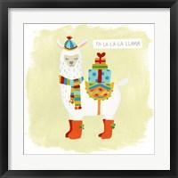 Framed Fa-la-la-la Llama I