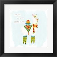 Fa-la-la-la Llama II Framed Print