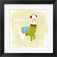 Framed Fa-la-la-la Llama III