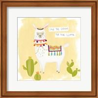Framed Pom Pom Llama Rama I
