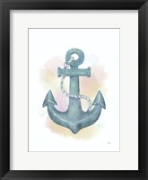 Framed Watercolor Anchor