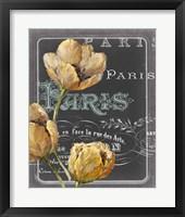 Framed Chalkboard Paris II