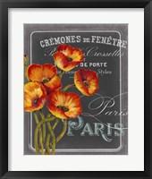 Framed Chalkboard Paris III
