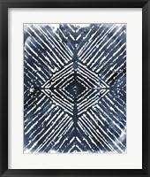 Framed Indigo Ink Motif IV