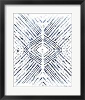 Framed Indigo Ink Motif VI