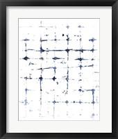 Framed Indigo Ink Motif VII