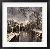 Framed Bruges In Christmas Dress