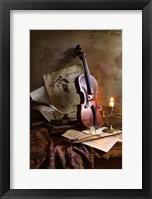 Framed Still Life With Violin