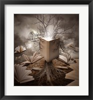 Framed Old Tree Reading Story Book