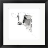 Framed Cow II Dark Square