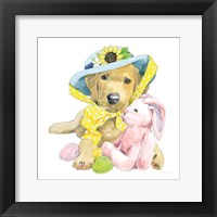 Framed Easter Pups VI