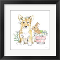 Framed Easter Pups I