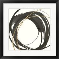 Framed Gilded Enso IV