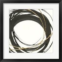 Framed Gilded Enso III