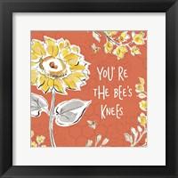 Framed Bee Happy II Spice