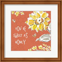 Framed Bee Happy III Spice