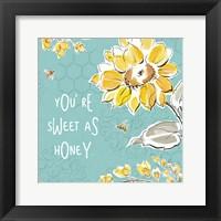 Bee Happy III Framed Print