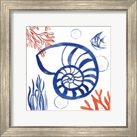 Framed Coastal Jewels I