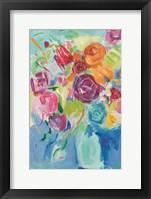 Framed Matisse Florals Pastel Crop