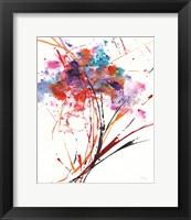 Framed Floral Explosion I on White