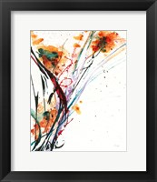 Framed Floral Explosion II on White