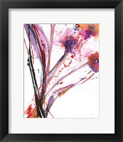 Framed Floral Explosion III on White