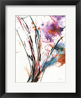 Framed Floral Explosion IV on White