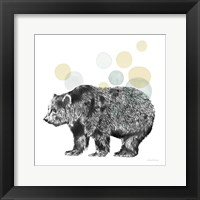 Framed Sketchbook Lodge Bear Neutral