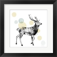 Framed Sketchbook Lodge Stag Neutral