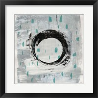 Framed Zen Circle I Crop with Teal