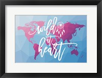 Geo Map Boho I Framed Print
