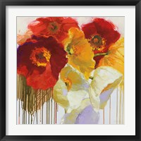 Framed Red and Yellow Sensations