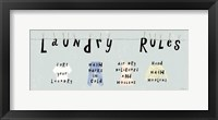 Framed Laundry Rules I