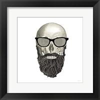 Framed Hipster Skull I