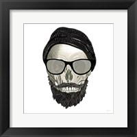 Framed Hipster Skull II
