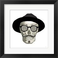 Framed Hipster Skull III
