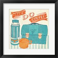Framed Let's Do Coffee Orange