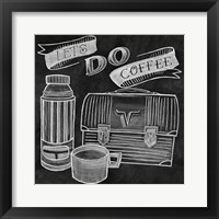 Framed Let's Do Coffee Chalk