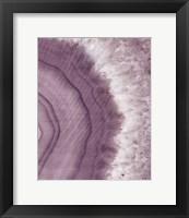 Framed Agate Geode II Plum