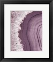 Framed Agate Geode I Plum