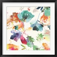Framed Glitchy Floral I
